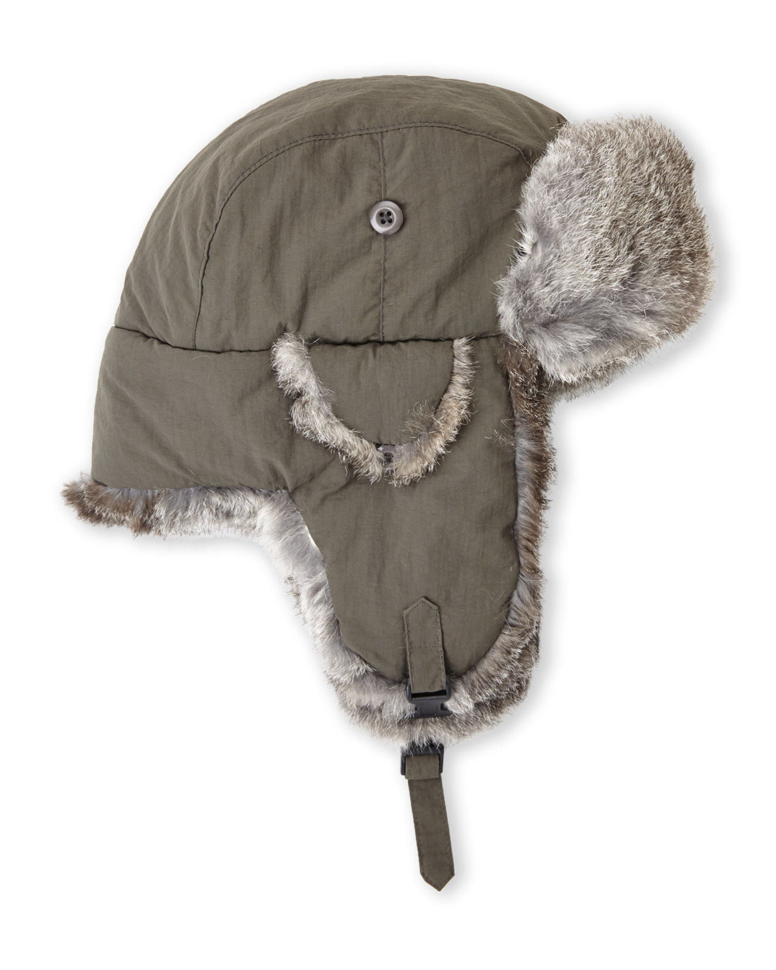 37bb098ecec5e Crown Cap Real Rabbit Fur Lined Bomber Hat in Gray for Men - Lyst