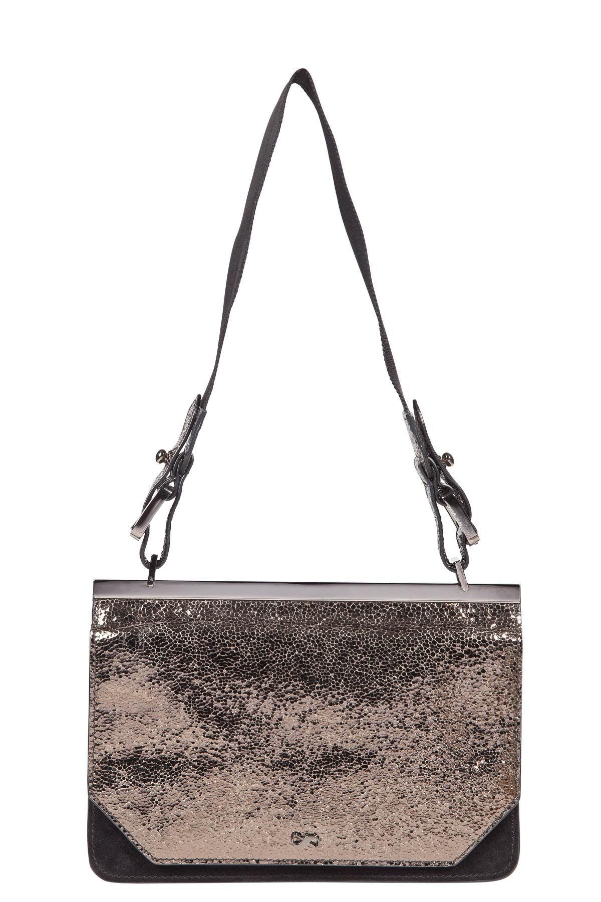 STUDDED ATTITUDE piercing detail neoprene bag with key chain decoration Dorothee Schumacher myxO29