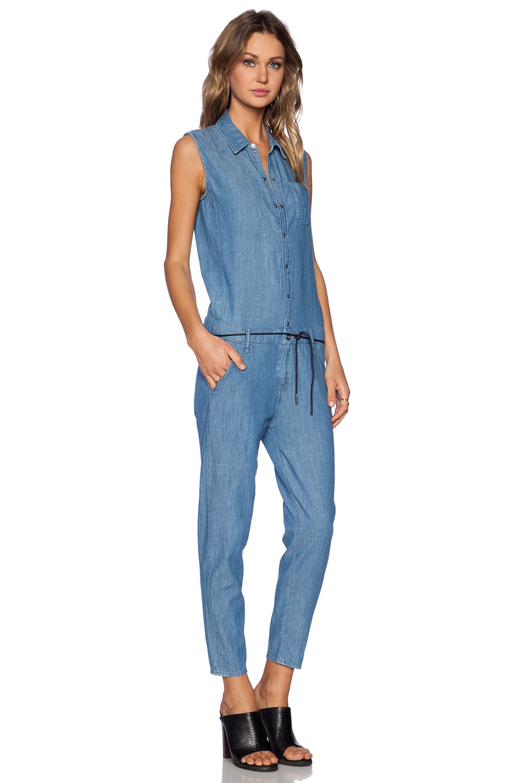 g star raw lancer jumpsuit in blue lyst. Black Bedroom Furniture Sets. Home Design Ideas