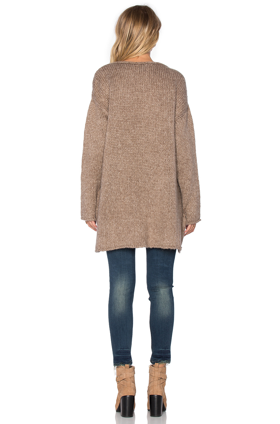 Sincerely jules Paige Chunky Sweater in Brown | Lyst