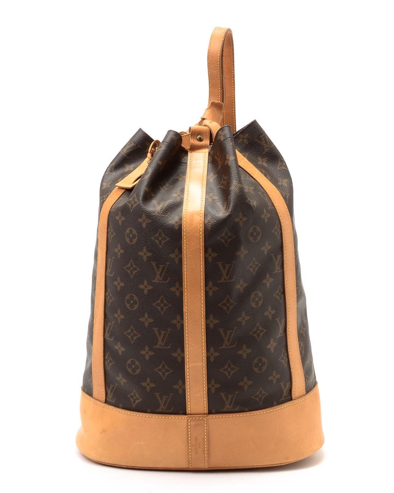 3fabb2b5452f Lyst - Louis Vuitton Monogram Randonnee Gm Backpack in Brown