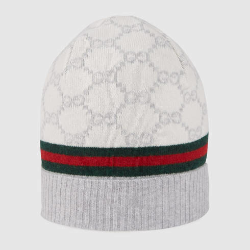 2e3dfef1 Gucci Gg Pattern Hat With Web Detail in White for Men - Lyst