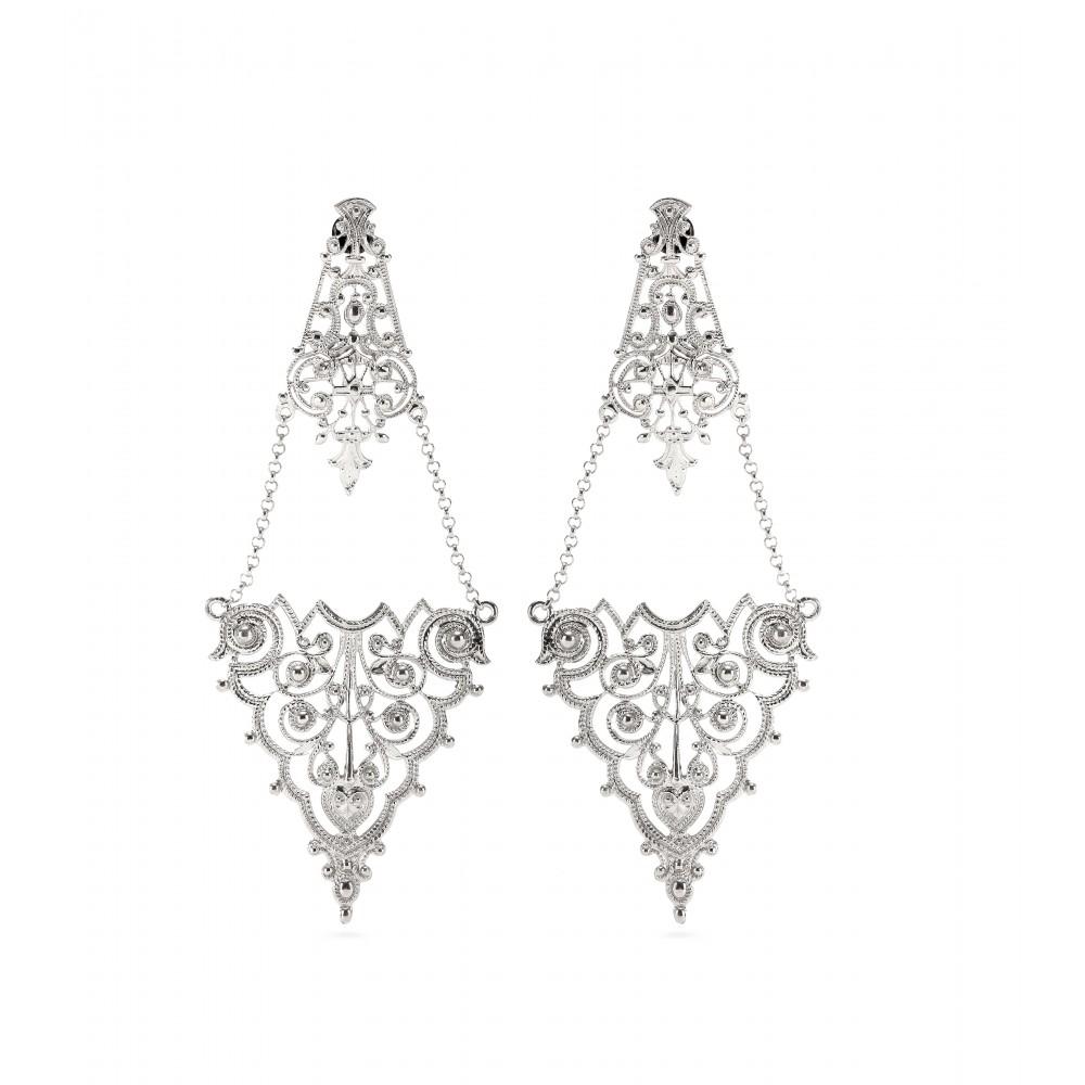 Lyst iam by ileana makri chantilly lace chandelier earrings in gallery arubaitofo Choice Image