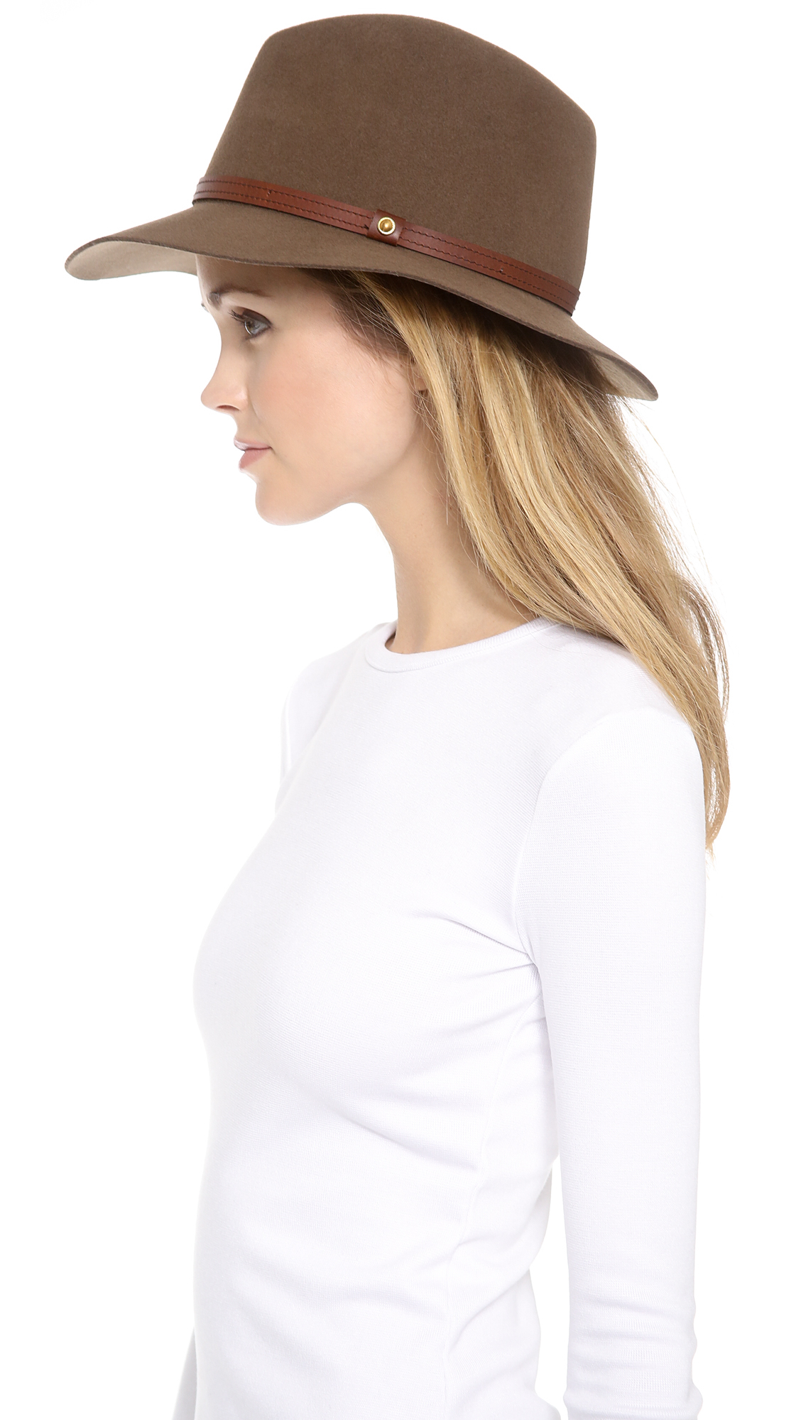Lyst - Rag   Bone Floppy Brim Fedora in Brown 9a539321972