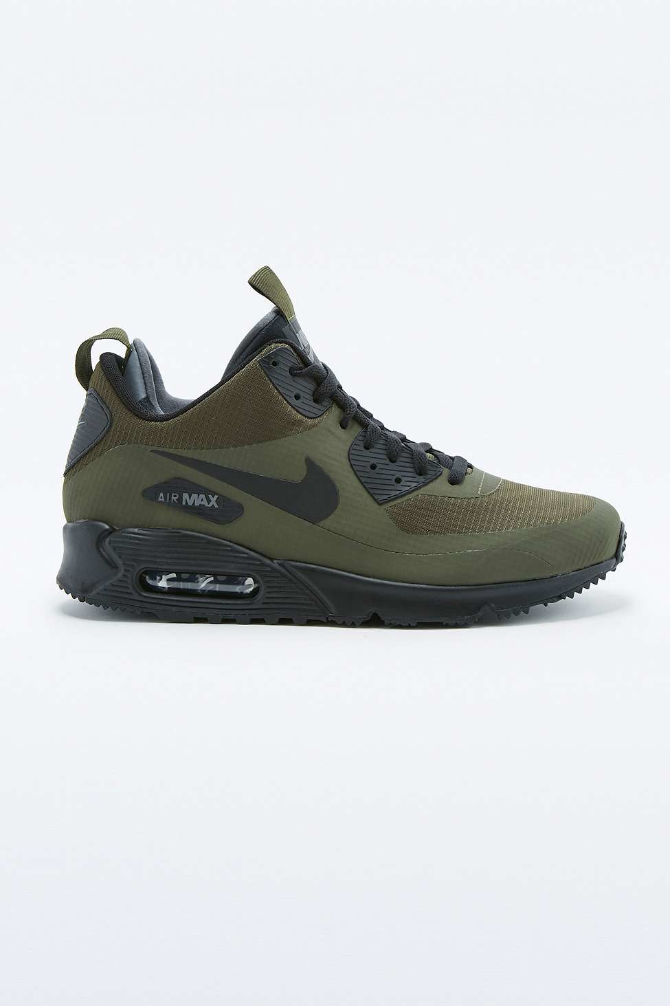 nike air max 90 mid winter khaki trainers in green for men. Black Bedroom Furniture Sets. Home Design Ideas