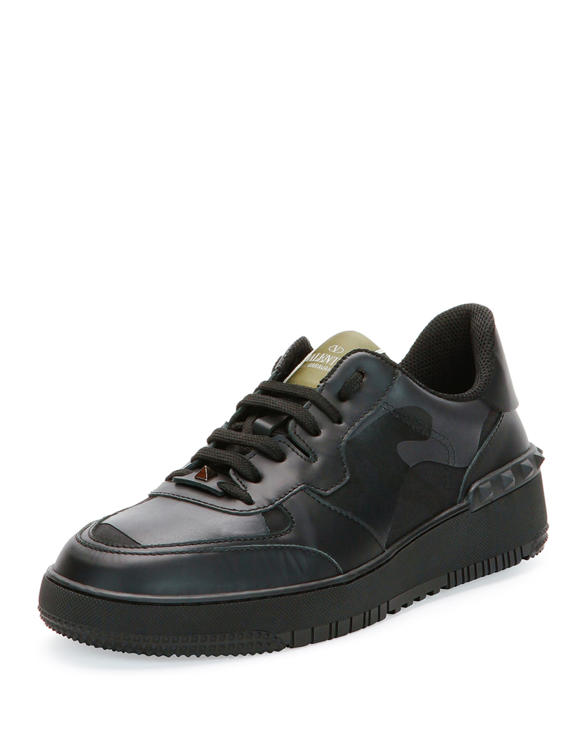 valentino rock be camo print sneakers in green for men lyst. Black Bedroom Furniture Sets. Home Design Ideas