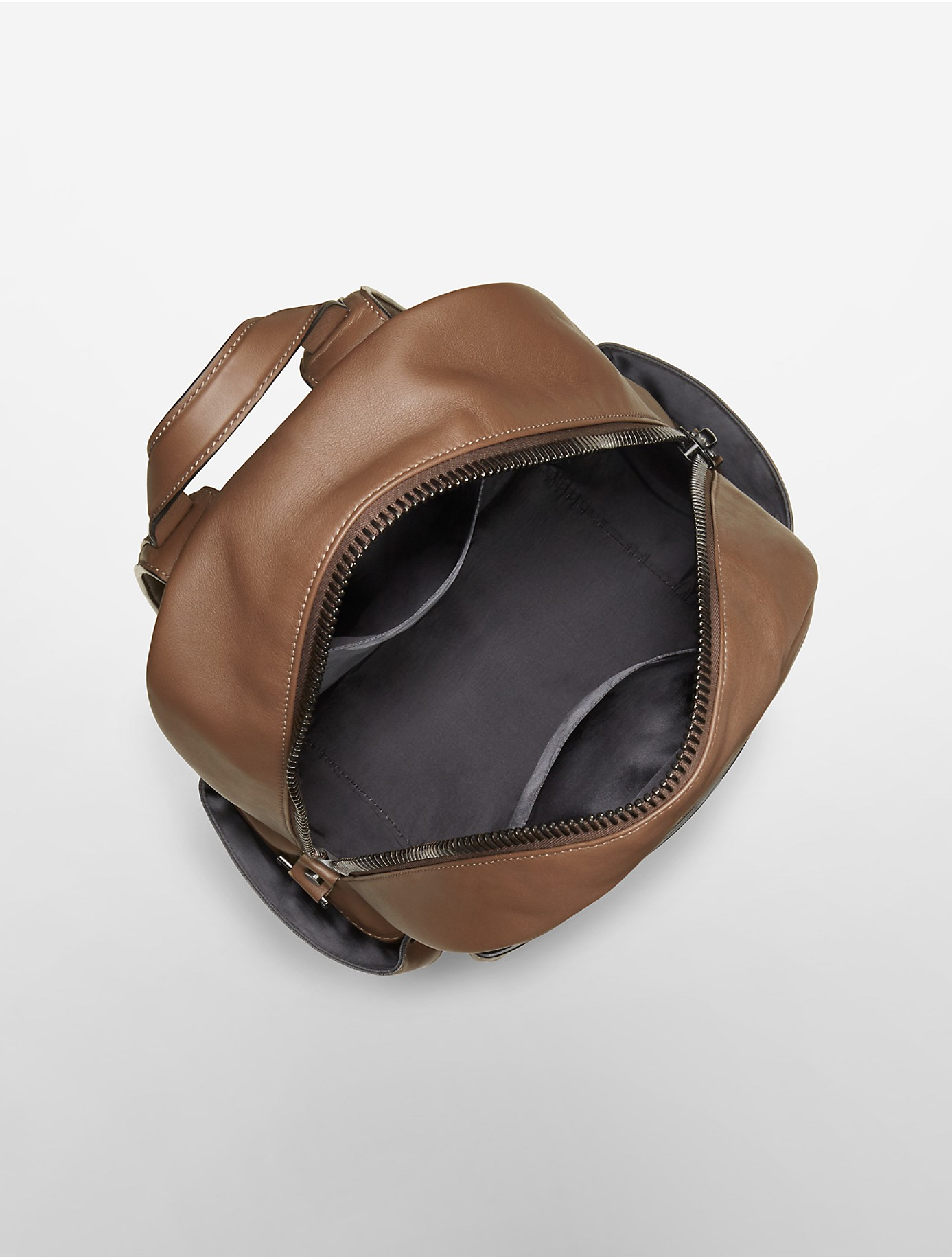 Calvin klein Collection Soft Calf Utility Backpack in Brown ...