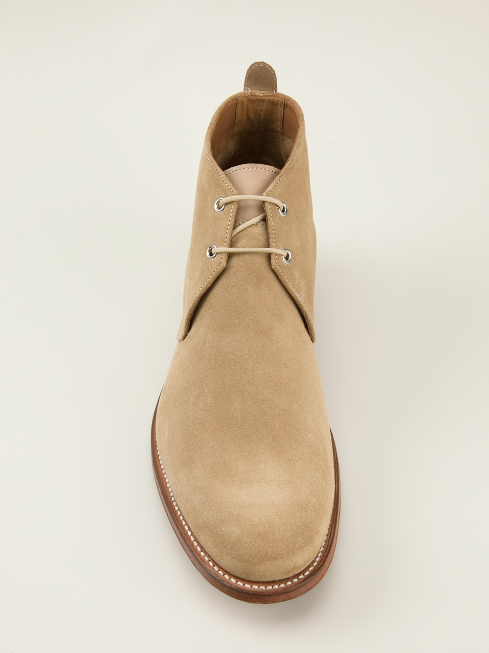Foot the coacher 'silas' Chukka Boots in Natural for Men | Lyst
