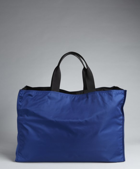 9254fa93ab ... coupon code for prada blue nylon oversized tote in blue for men lyst  39cfc c7774 ...