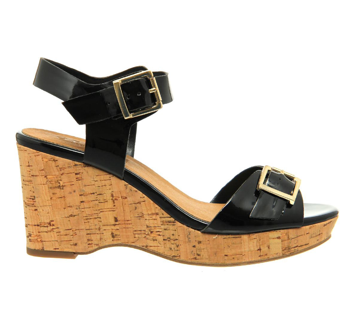office winchester cork wedges in black lyst