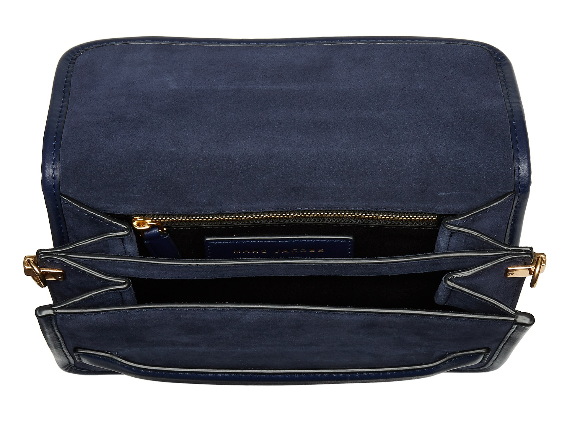 Marc jacobs Madison Suede Medium Shoulder Bag in Blue | Lyst