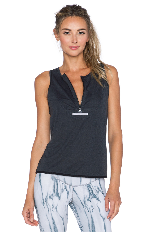 Lyst - adidas By Stella McCartney Climachill Tank Top in Black 96b8806b8d97