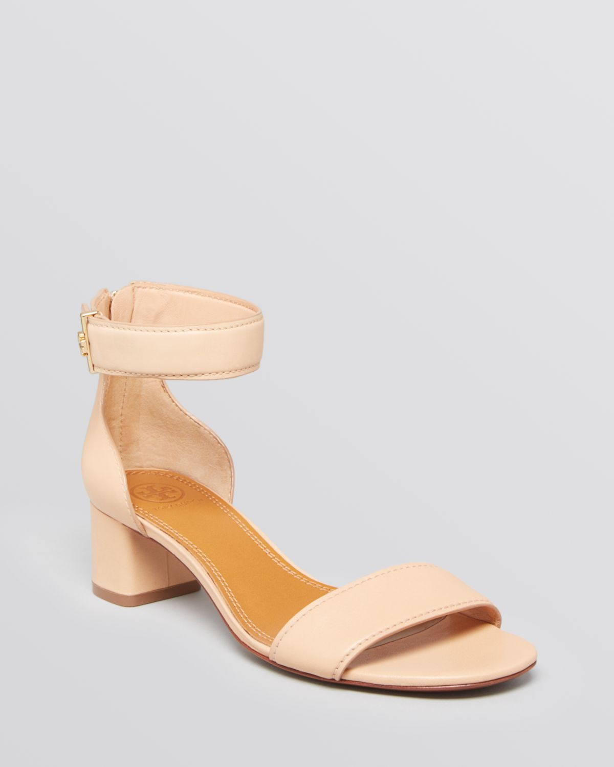 Lyst - Tory Burch Ankle Strap Sandals Tana Block Heel in Pink