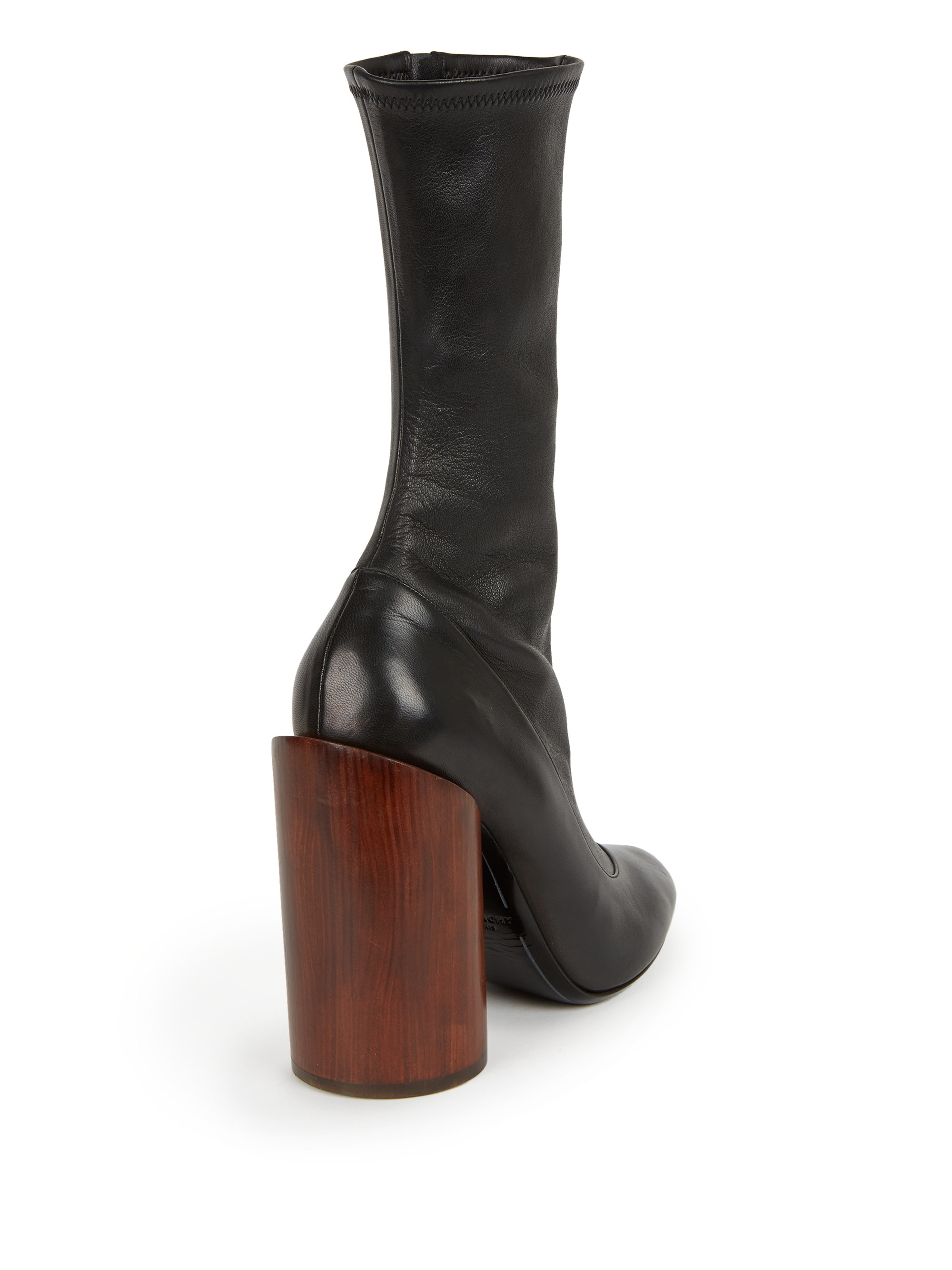 Lyst - Givenchy Lambskin Leather Wooden-heel Boots in Black b1667e169