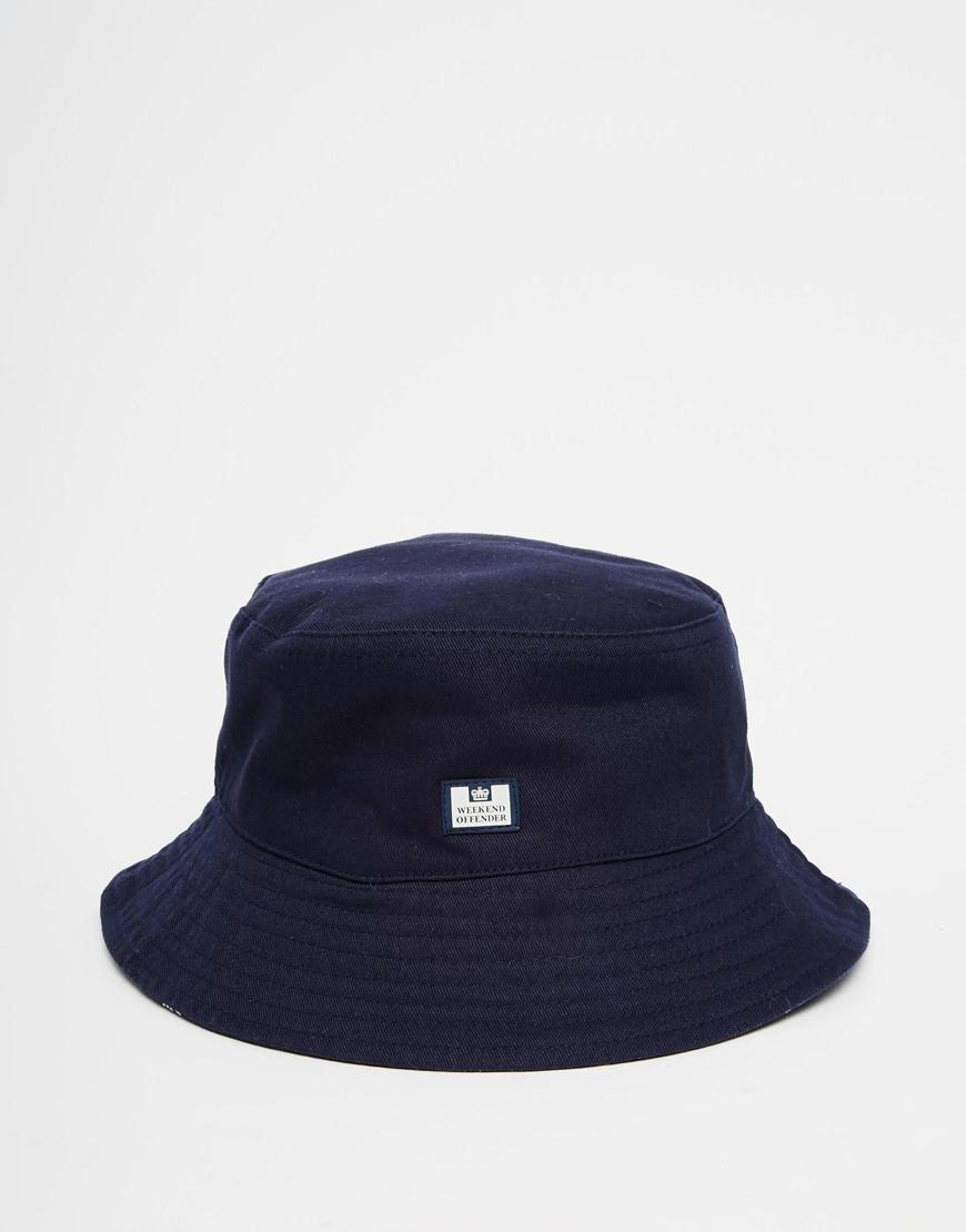 cb3446337d9 Lyst - Weekend Offender Bucket Hat Reversible in Blue for Men