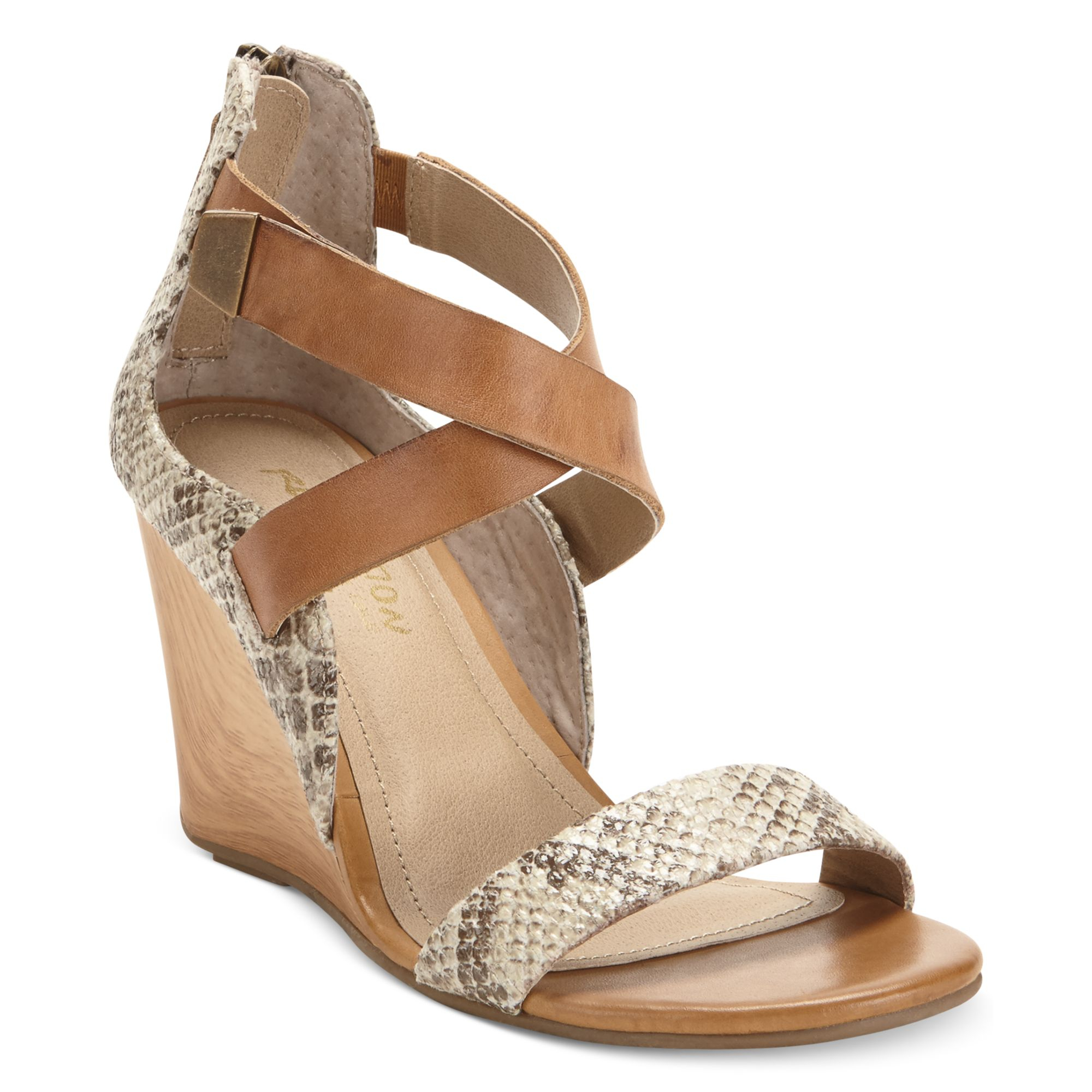 032d69ed11e Lyst - Kenneth Cole Reaction Oh Ava Wedge Sandals in Natural
