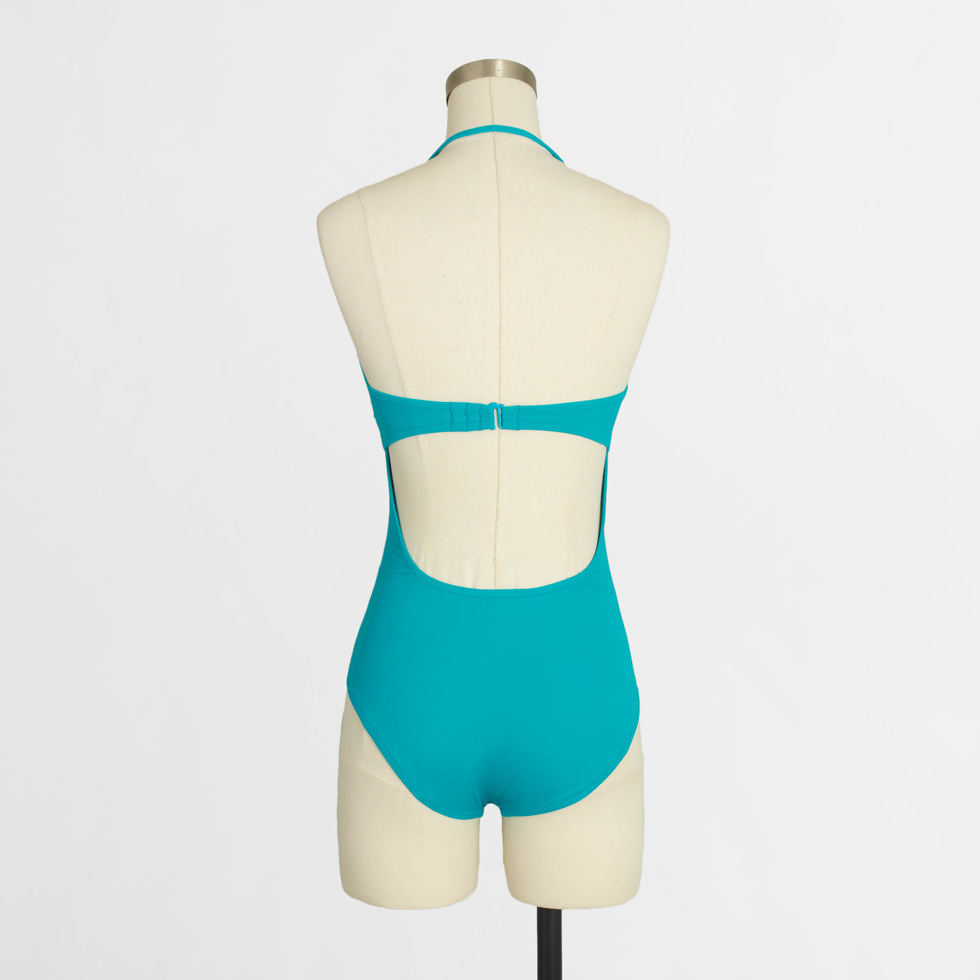 93043455da8a9 Lyst - J.Crew Factory Ruched Strapless One-Piece Swimsuit in Blue