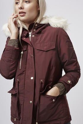 Topshop Petite Padded Jacket in Purple   Lyst