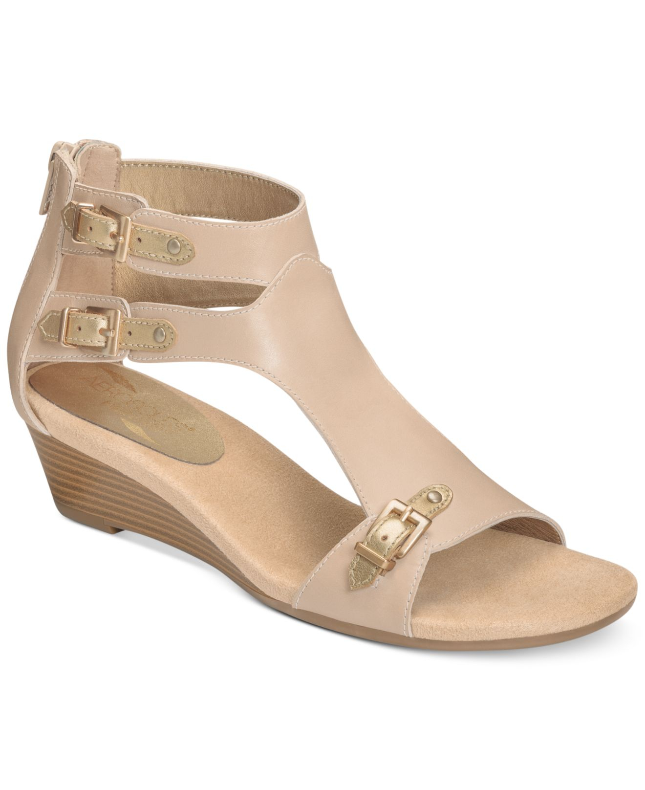 aerosoles yet another wedge sandals in lyst