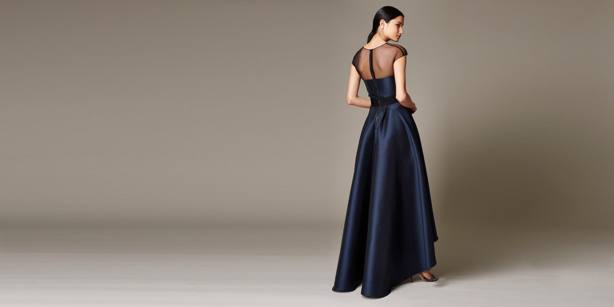 Lyst Sachin & Babi Lisa Silk High Low Gown in Blue