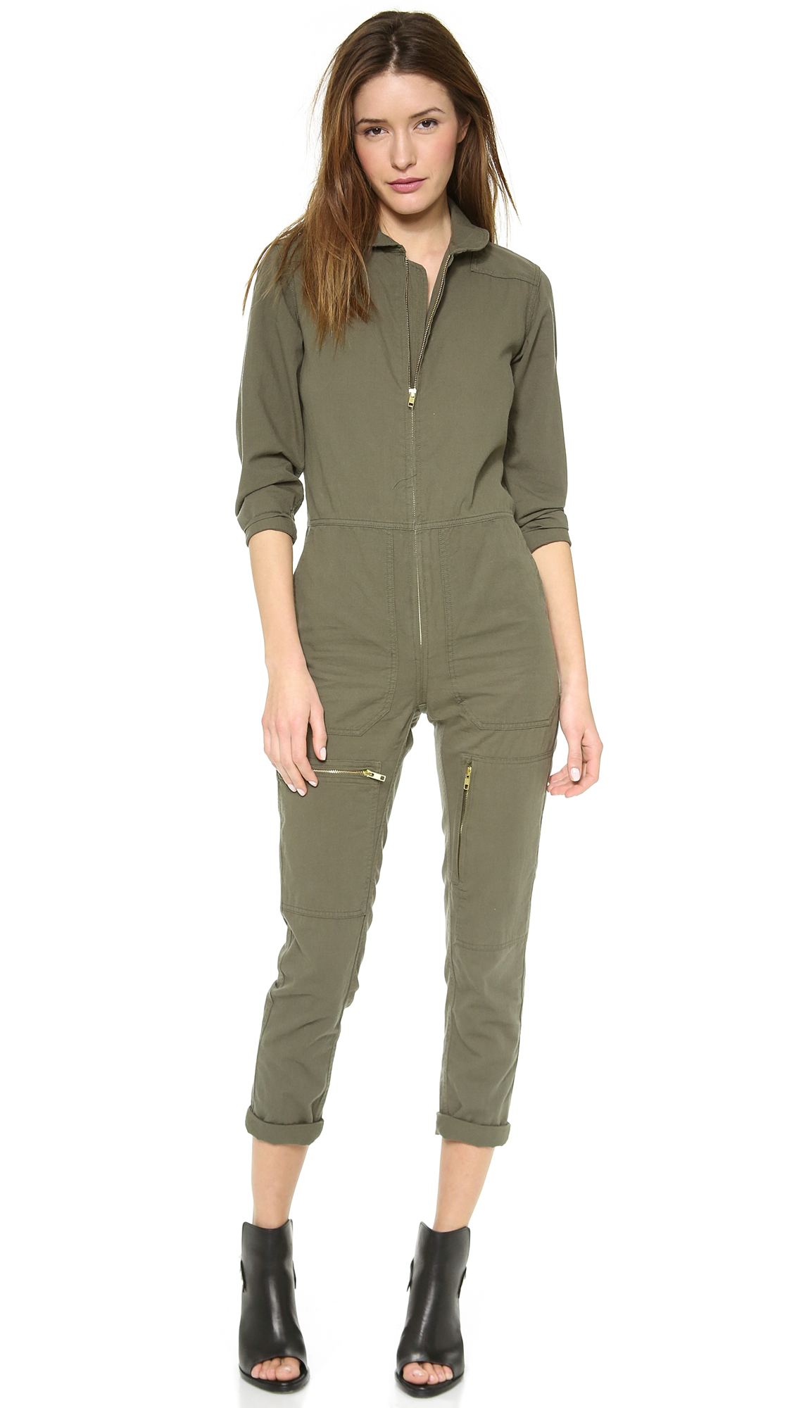 9370a60a23 Lyst - NLST Flight Jumpsuit Olive Drab in Green