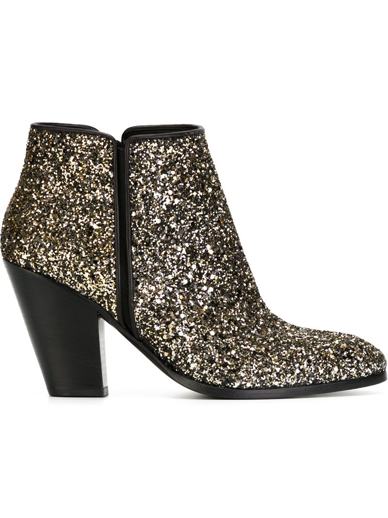 Giuseppe Zanotti 2018 Glitter Ankle Boots clearance tumblr new arrival cheap price NKfQbkt