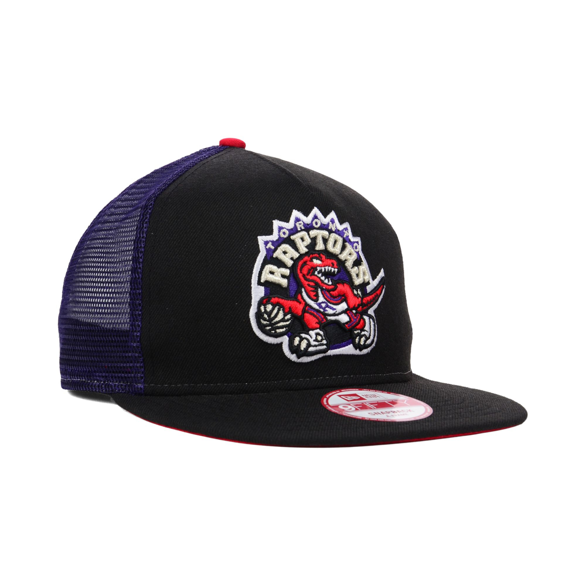 Ktz Toronto Raptors Basic Trucker 9fifty Snapback Cap In