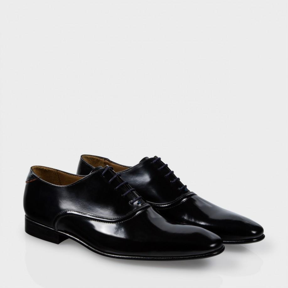 paul smith s black high shine calf leather starling