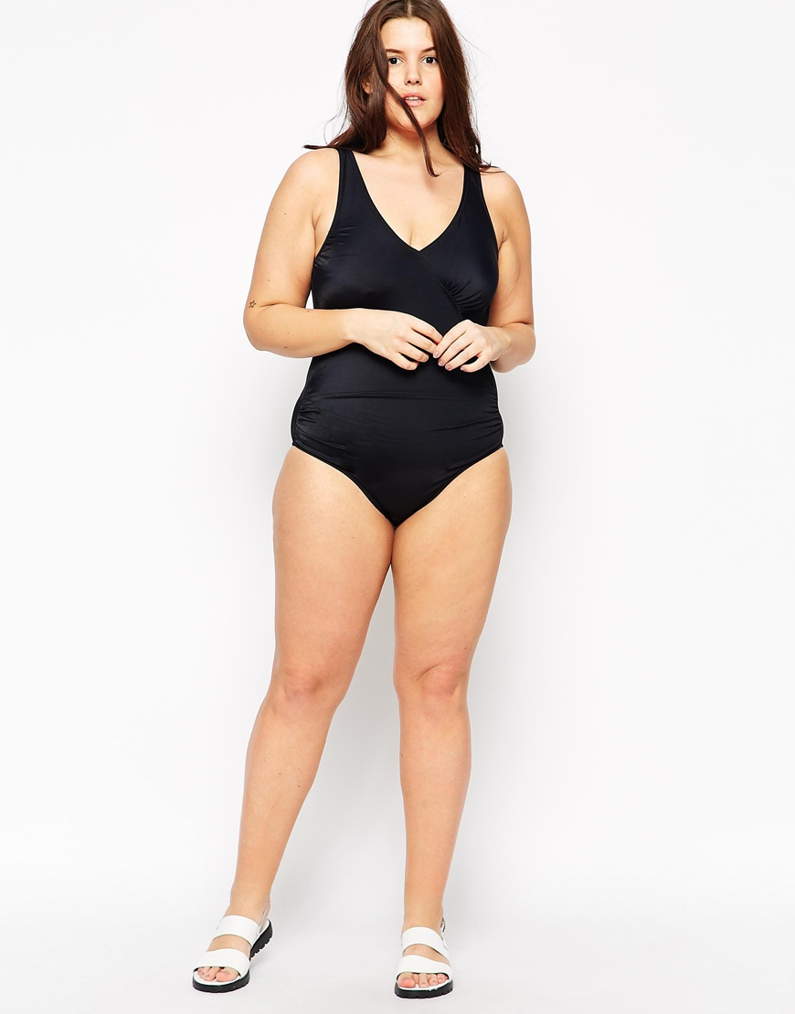 Marie meili Curves Malibu Body Shaping Swimsuit in Black : Lyst