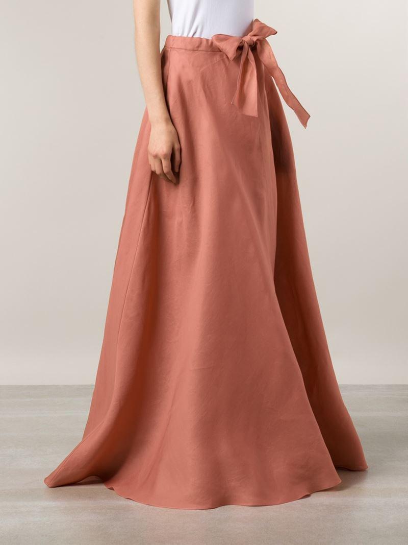 Rosie assoulin Long Full Skirt in Pink | Lyst