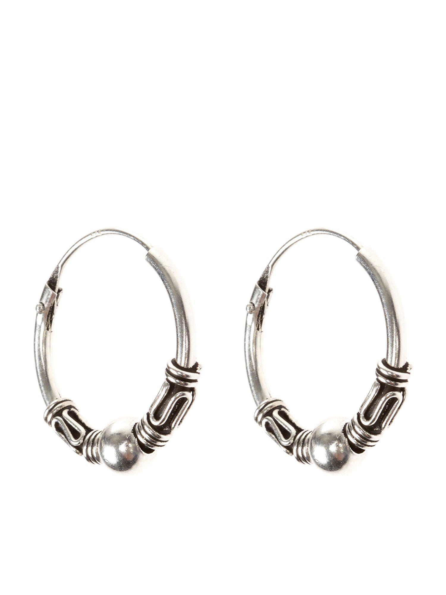 Accessorize Sterling Silver Hoop Earrings In Metallic Lyst