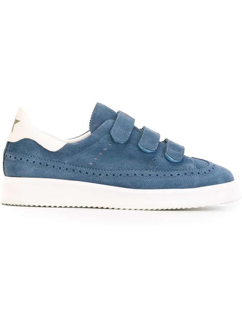 golden goose deluxe brand 39 records 39 sneakers in blue for men lyst. Black Bedroom Furniture Sets. Home Design Ideas