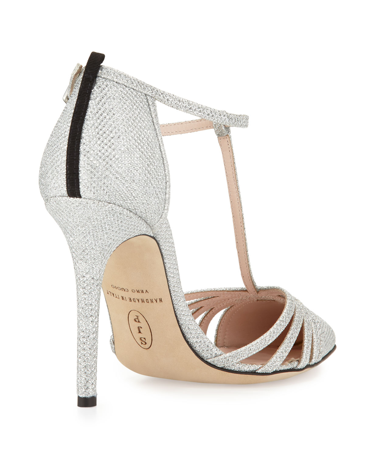 f44be1ddac8 Lyst - SJP by Sarah Jessica Parker Carrie Sparkle Lamé T-Strap Pump in  Metallic