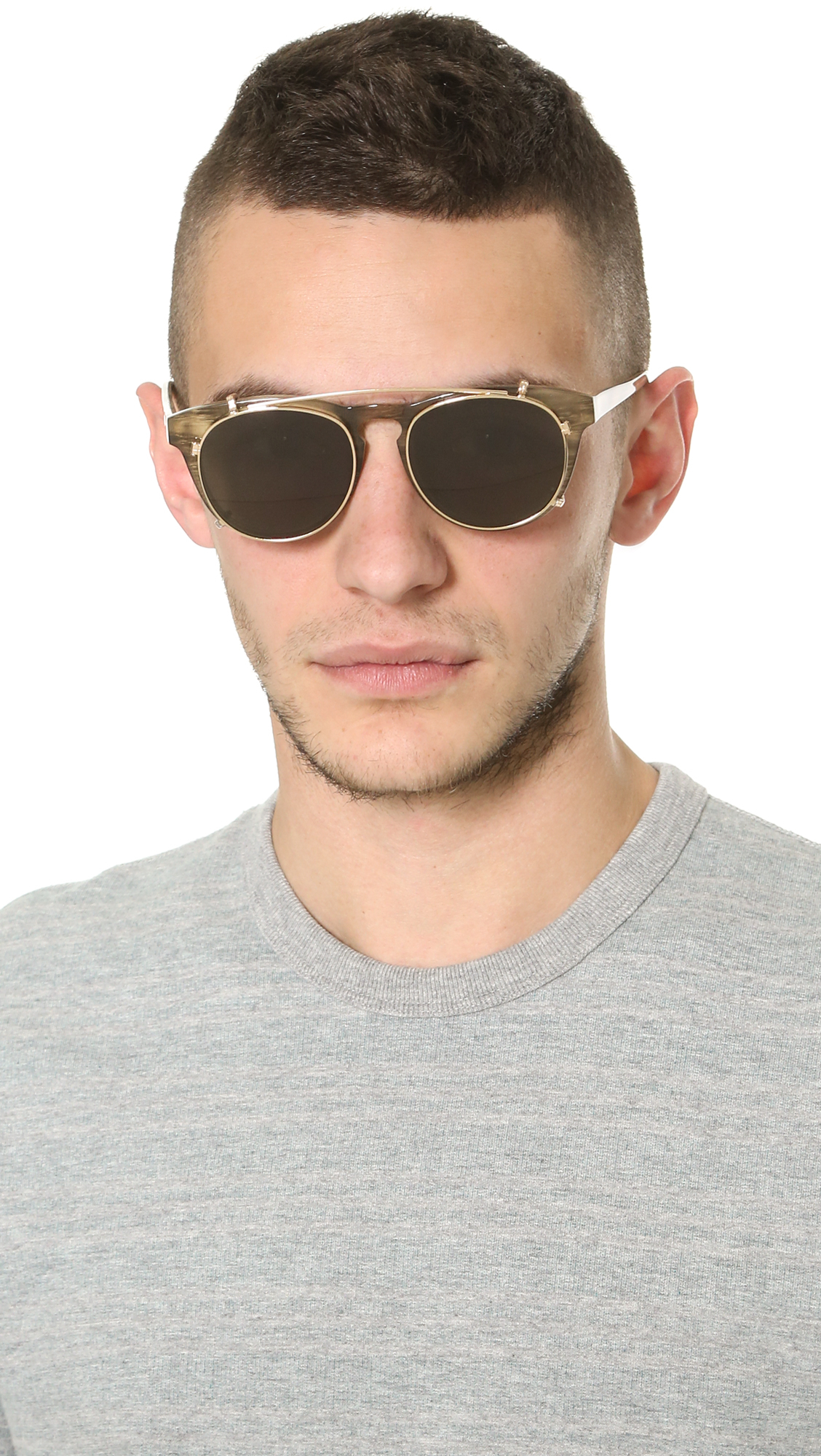Han Kjobenhavn Timeless Clip On Sunglasses In Black For