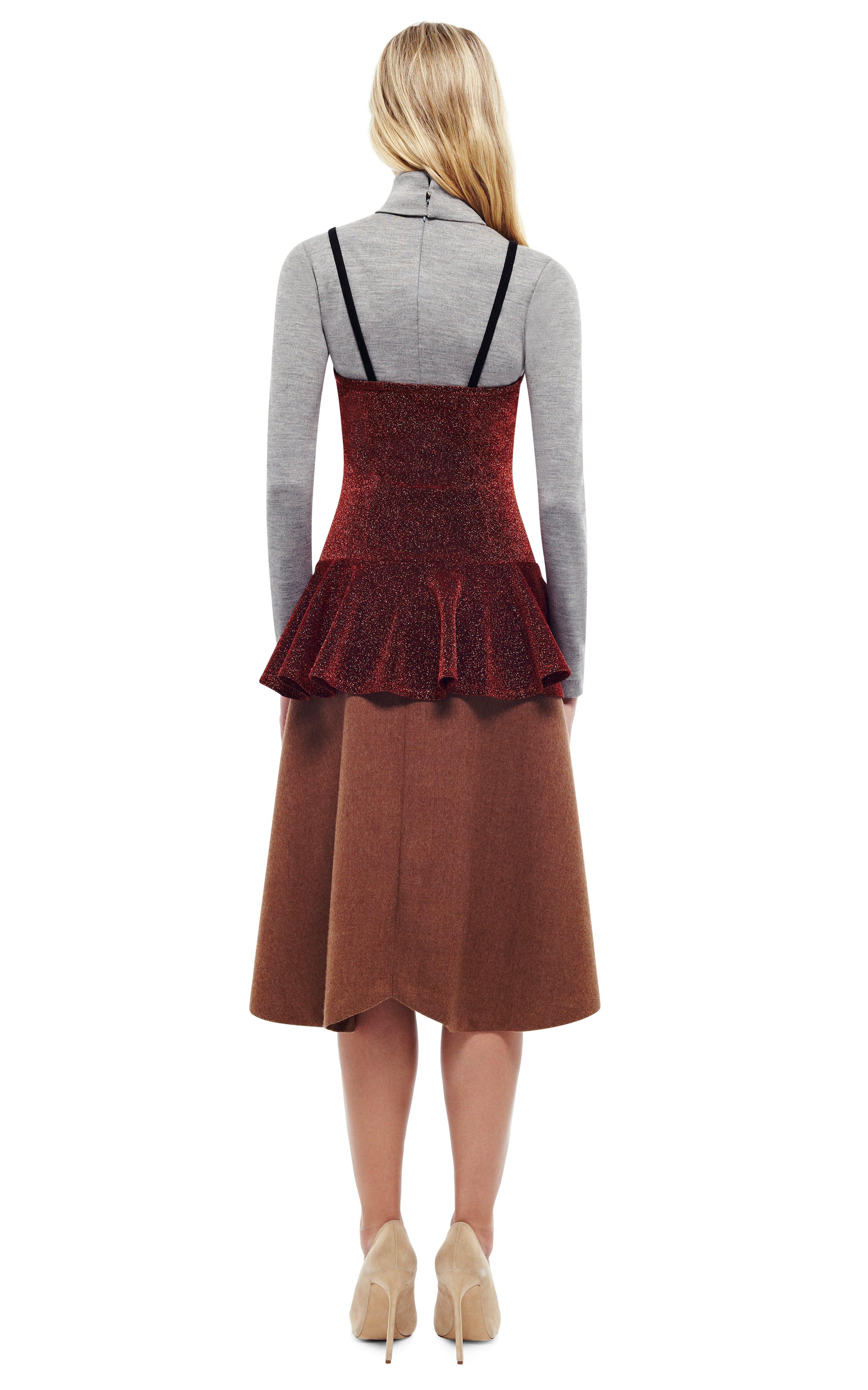 Lyst Rodarte Caramel Doubleface Wool Gored Skirt In Brown