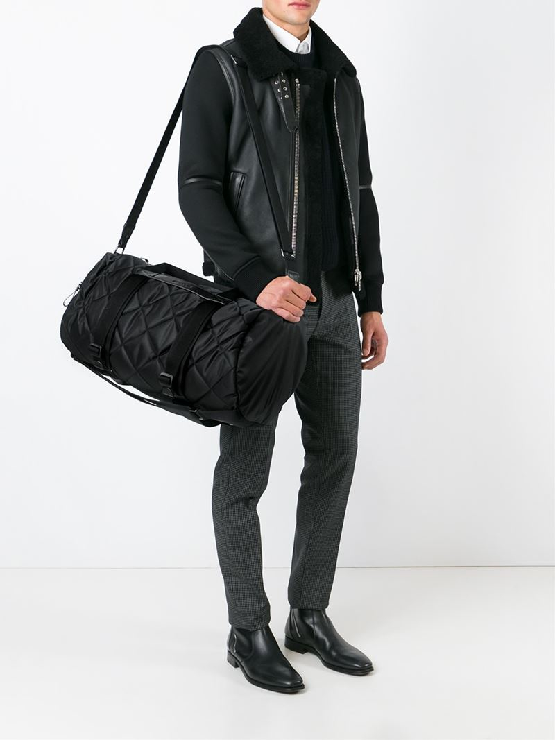 Moncler Quilted Holdall In Black For Men Lyst