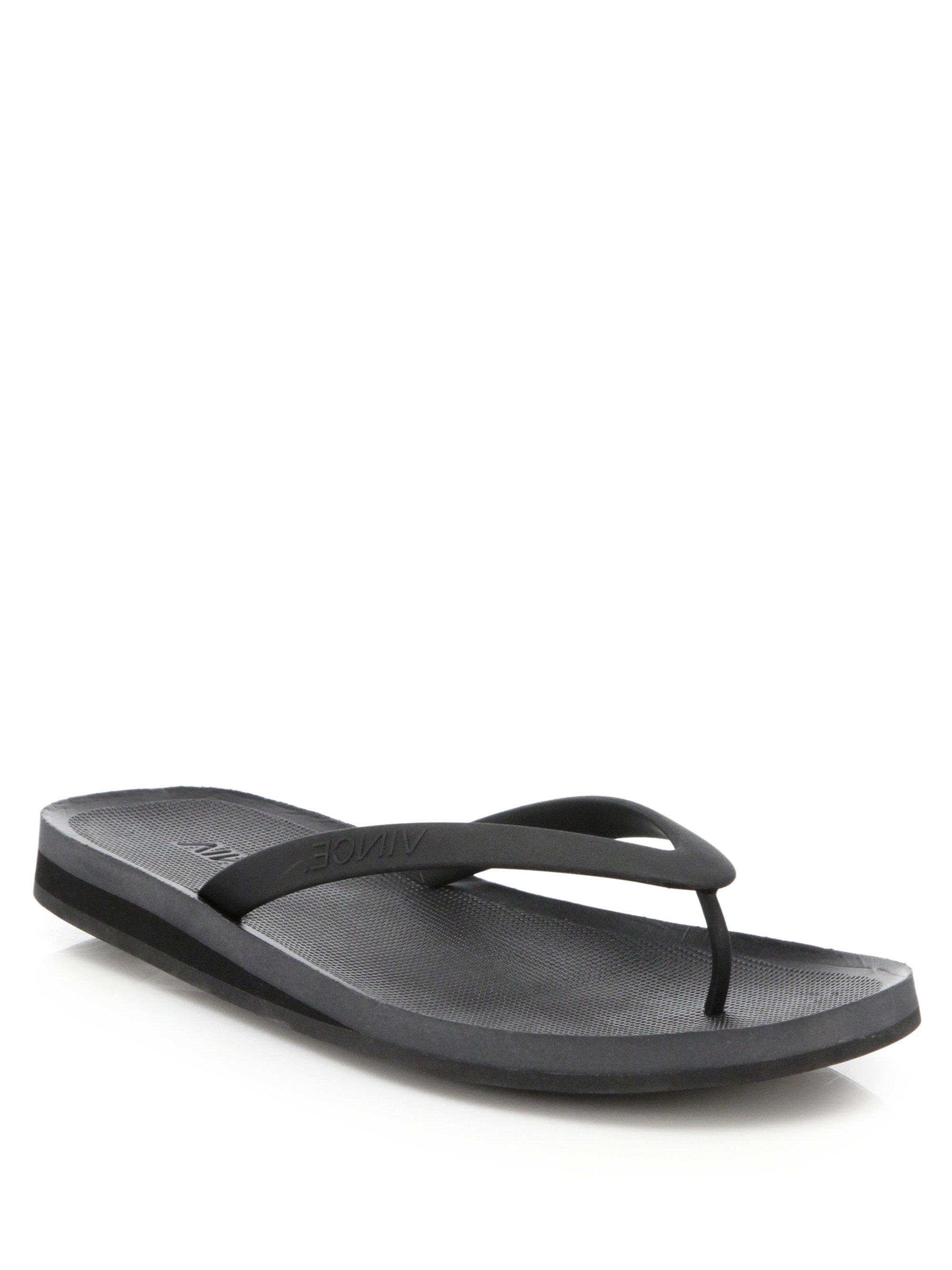a9a892922294 Lyst - Vince Tyler Flip Flops in Black for Men