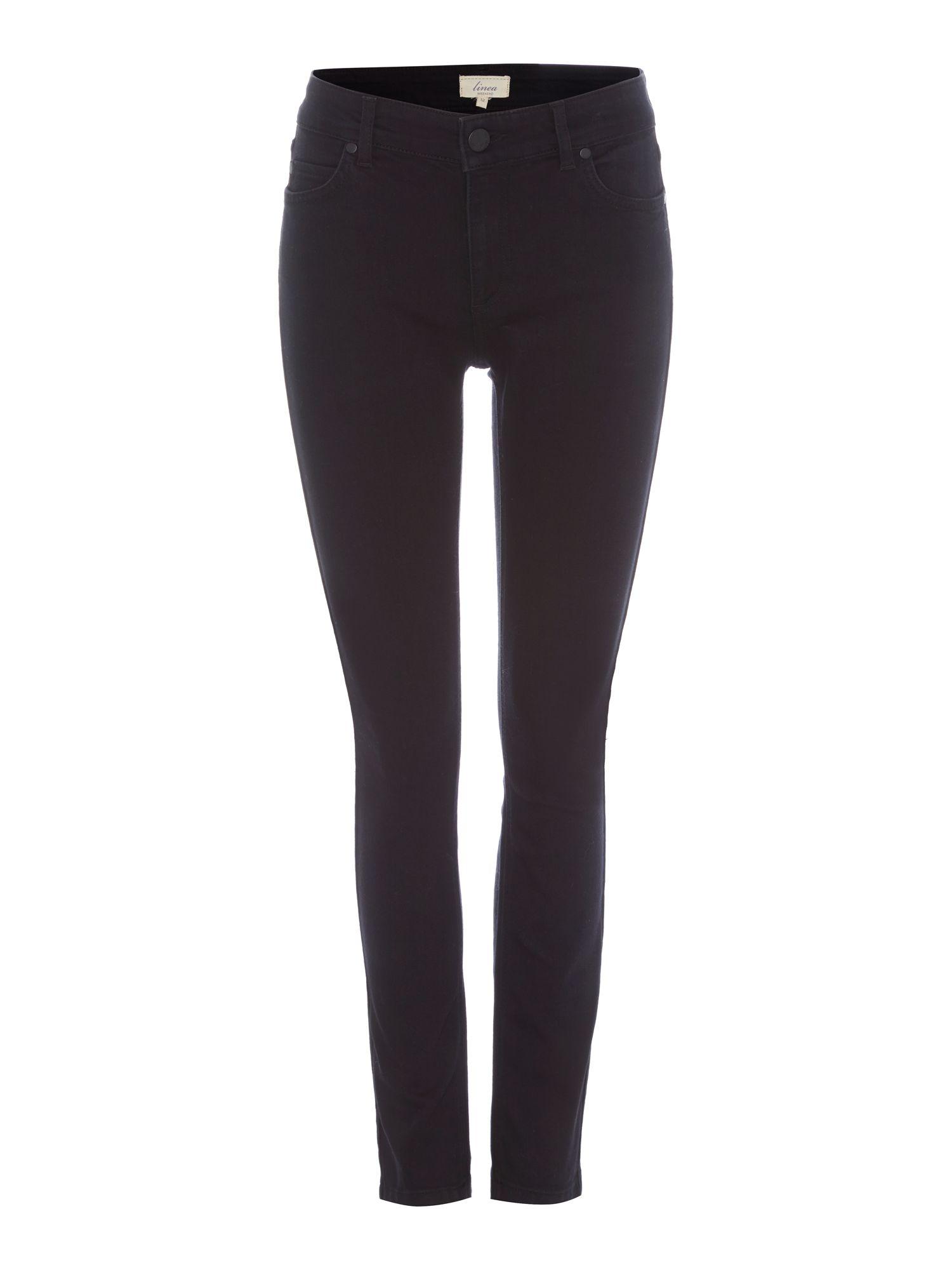 Linea weekend Ladies Black Slim Leg Jeans in Black | Lyst