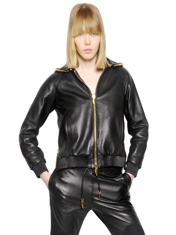 Giuseppe Zanotti Nappa Leather Jacket In Black Lyst