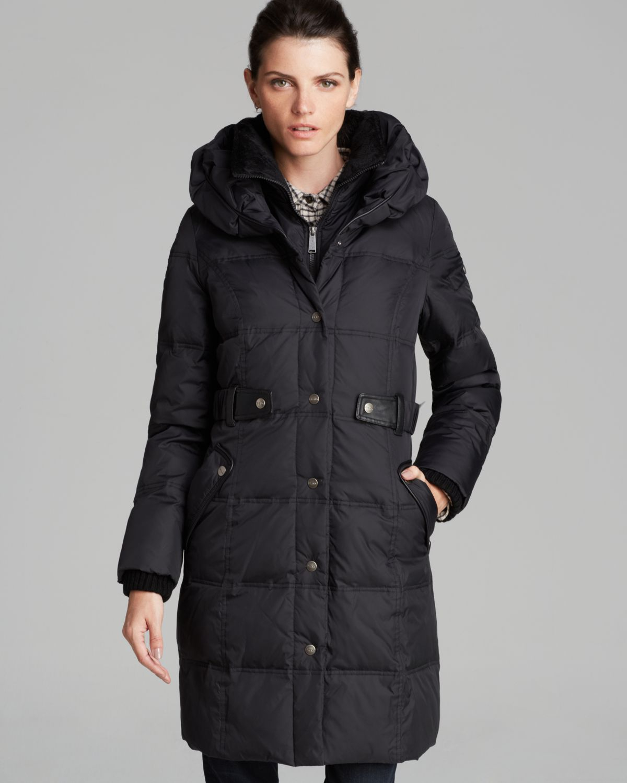 Dkny Down Coat Faith Pillow Collar In Black Lyst