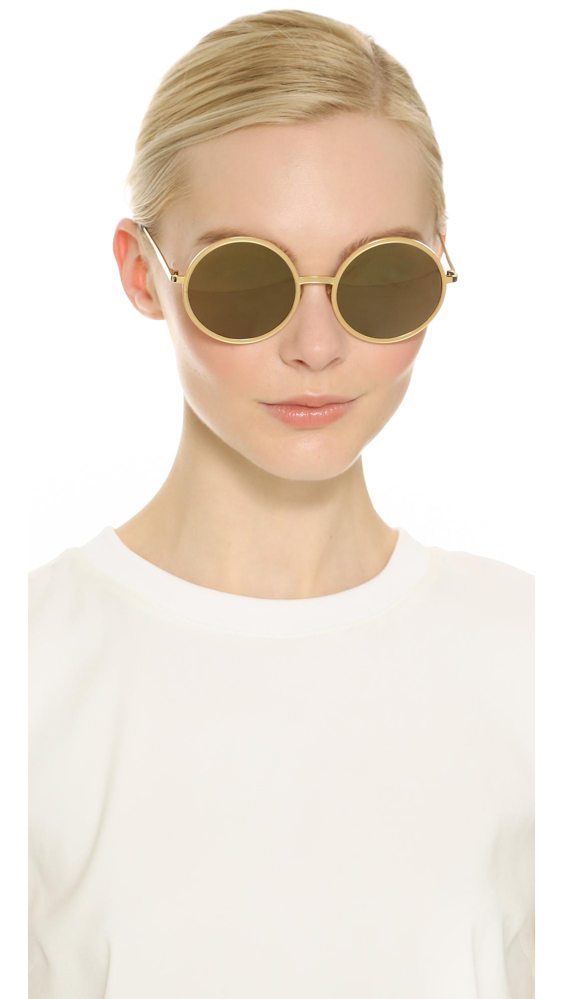 cc71ab283 Sunday Somewhere Charlie Sunglasses - Gold/Gold Mirror in Metallic ...