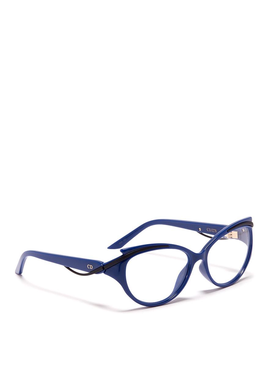 Dior Curve Brow Bar Cat Eye Optical Glasses in Blue Lyst