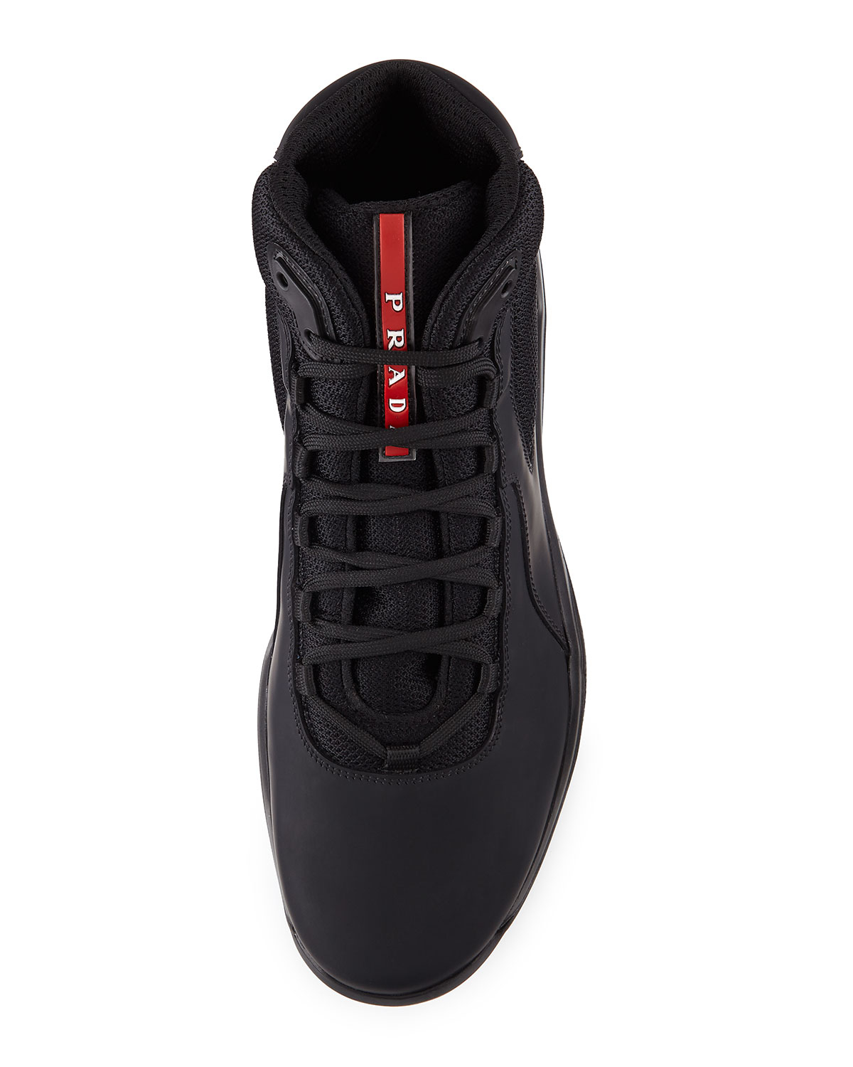 Lyst - Prada America s Cup High-Top Sneakers in Black for Men 0050902ed836