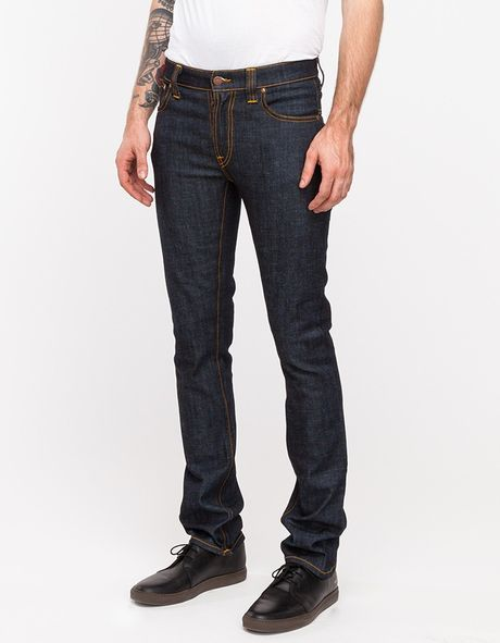 Need Supply Co. Thin Finn Organic Dry Twill in Blue for Men (denim)