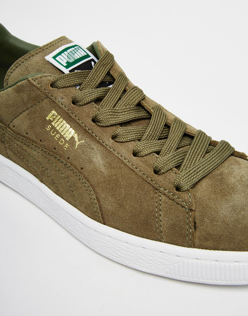 f395811174c9 Lyst - PUMA Suede Classic Sneakers in Green for Men