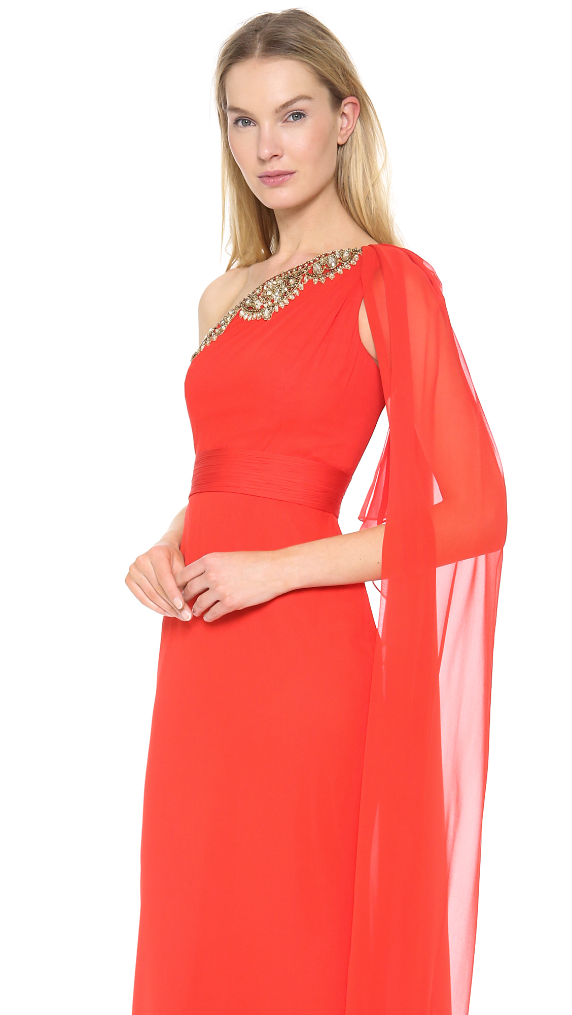 Images of poppy colored dresses
