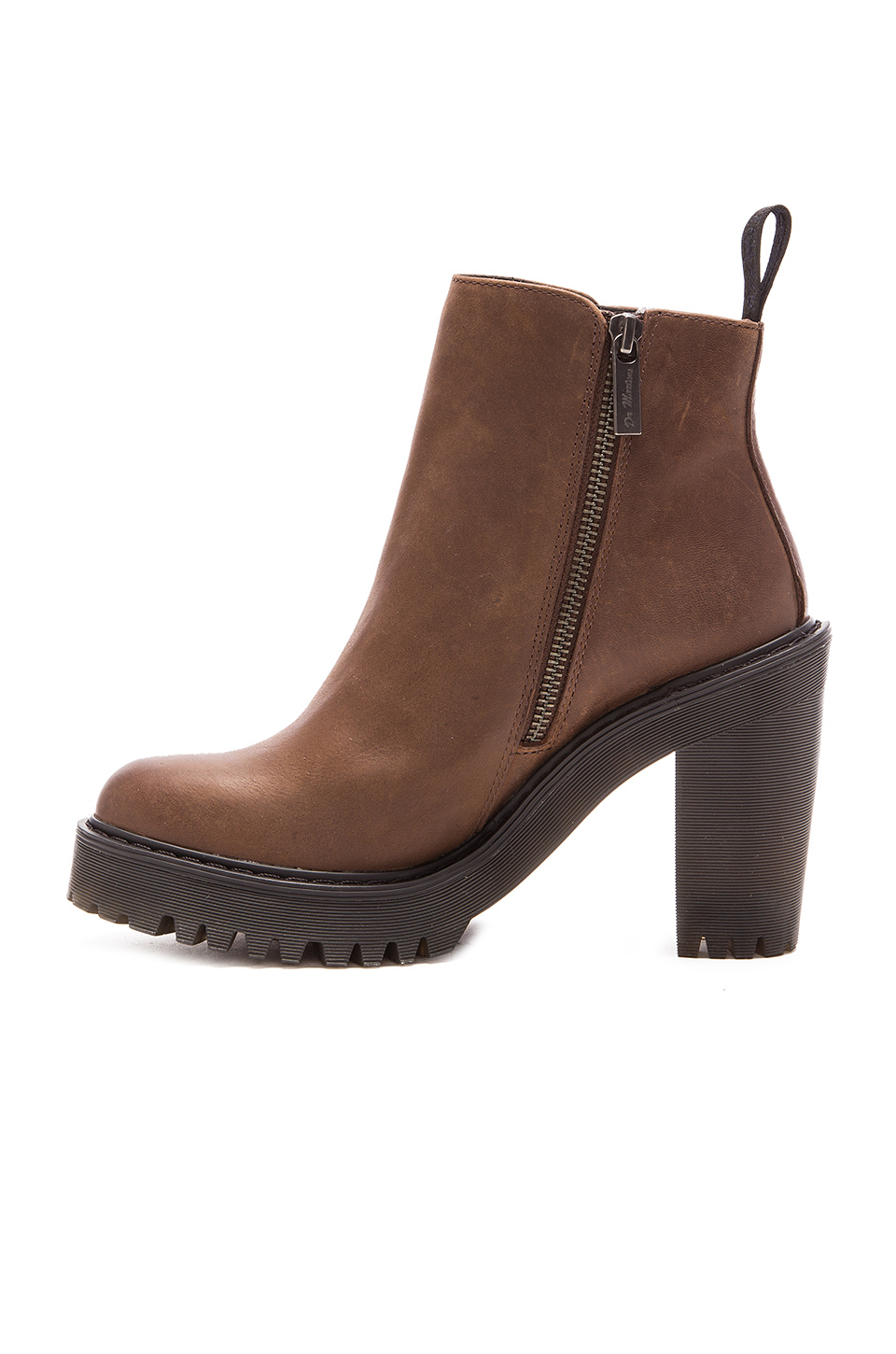 0b72e9b6a96c8 Lyst - Dr. Martens Magdalena Ankle Zip Boot in Brown