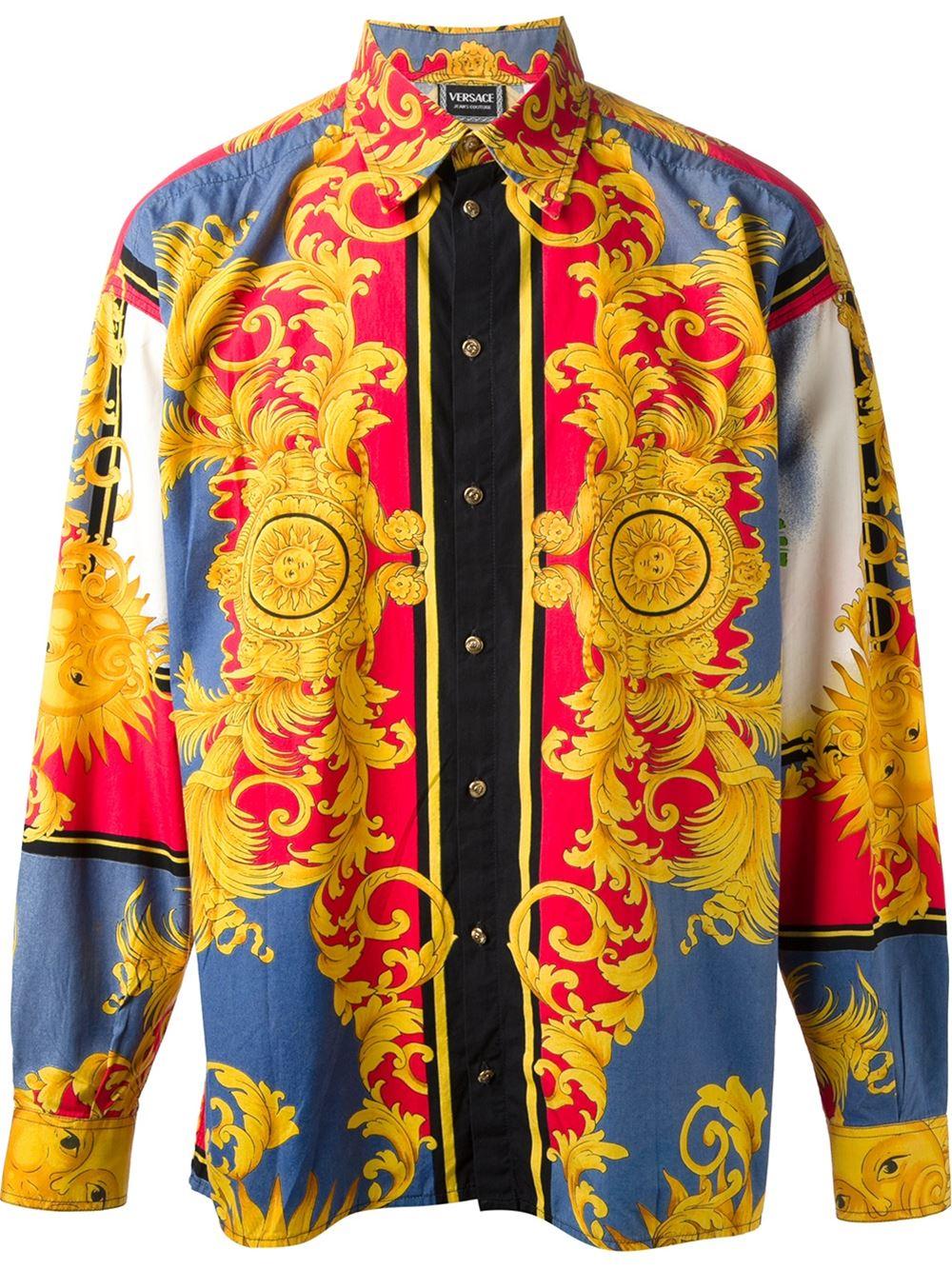 the gallery for vintage versace shirts for men. Black Bedroom Furniture Sets. Home Design Ideas