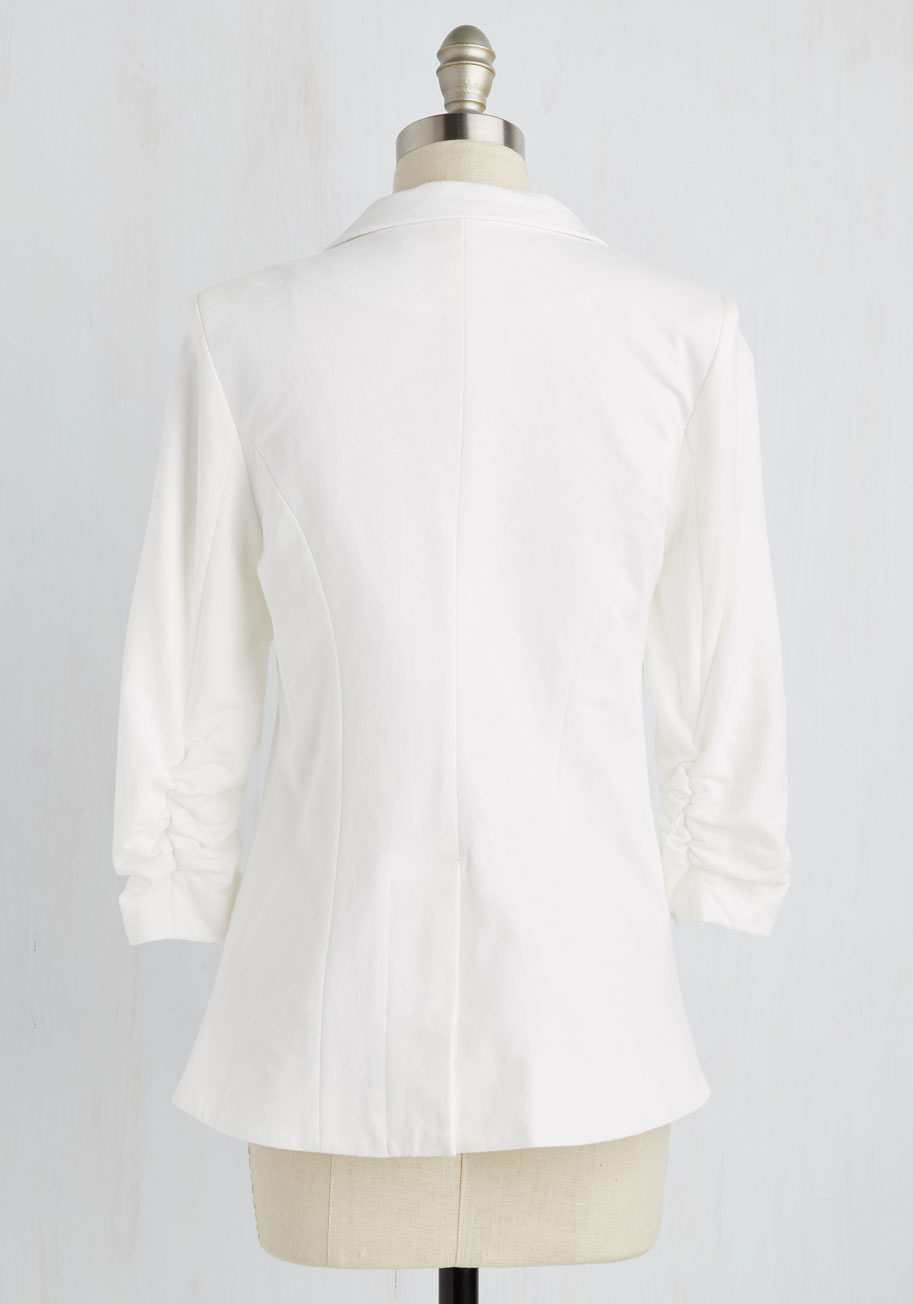 4427d77f3d17 Esley Fine And Sandy Blazer In White in White - Lyst