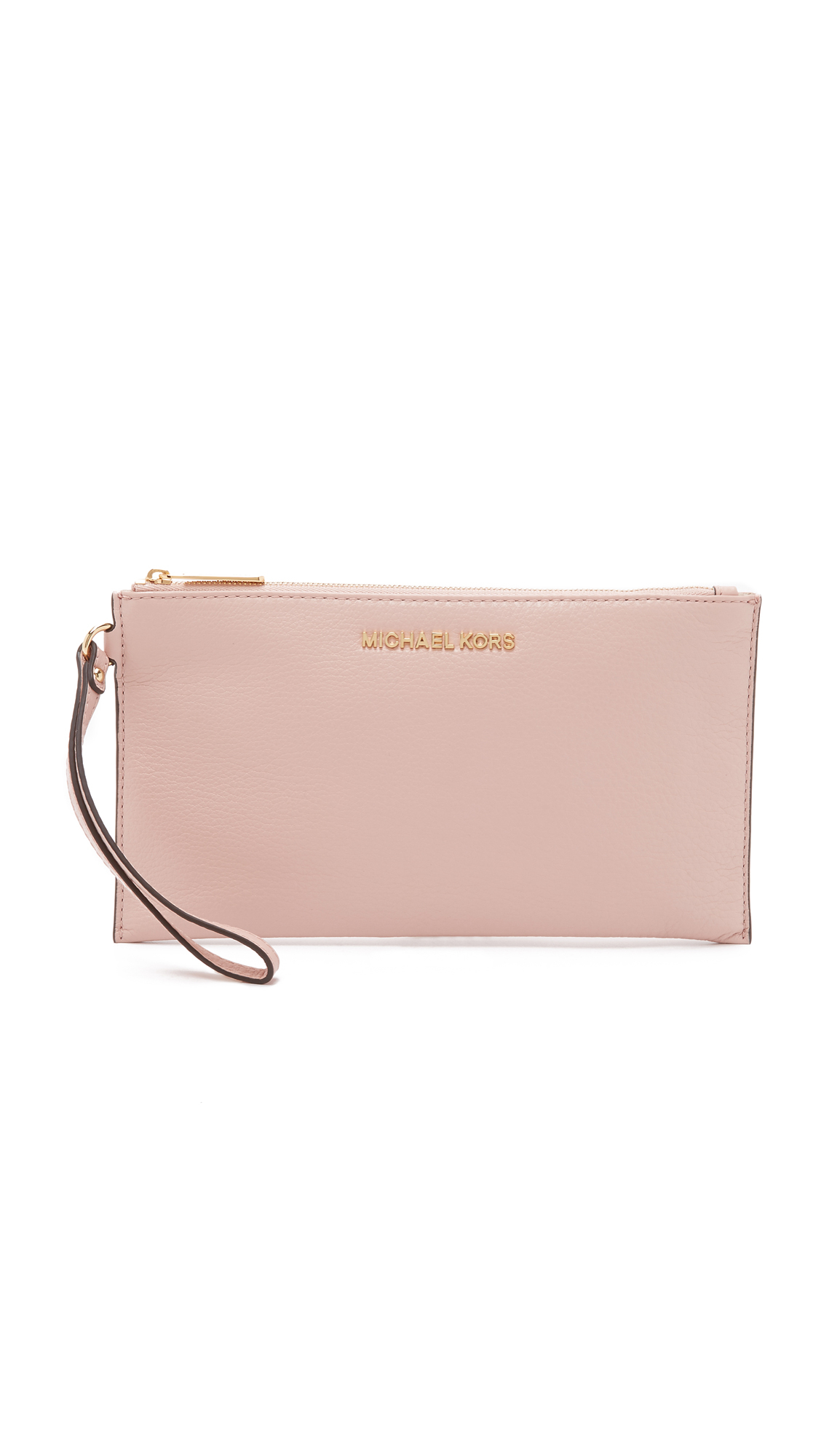 1820f8140445d Lyst - MICHAEL Michael Kors Bedford Large Zip Clutch in Pink